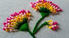 Hand embroidery of flowers with polan stitch | 38 |