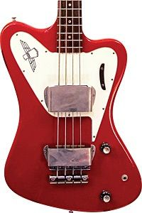 Gibson non reverse Thunderbird II bass, 1966 model in Cardinal Red.