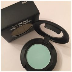 Mac Eyeshadow Aqua Authentic! Limited Edition from Dare to wear collection, shade is bright pastel aqua-blue with matte finish. Brand new in box MAC Cosmetics Makeup Eyeshadow