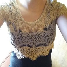 Cute tank top! Black tank with cream colored lace crop top attached! Super cute and sexy! Worn only twice! Rue 21 Tops Tank Tops