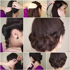 Do you want to learn a new hairstyle for different kinds of occasions. Here is a Simple Twisted Updo Hairstyle that you can do it yourself easily.