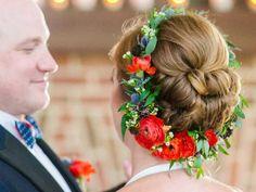 Wedding Flowers Ideas - Reversed Flower Crown