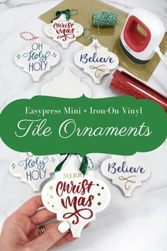 How to make tile ornaments.