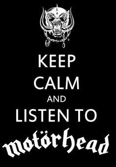 Keep Calm And Listen To Motorhead Music Poster - 61 x 91 cm Corel Draw X5, War Pigs, Vintage Music Posters, Groove Metal, Heavy Rock, Thrash Metal, Metalhead, Cool Posters, Death Metal