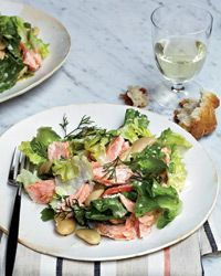PoachedSalmon Salad Recipe from Food & Wine