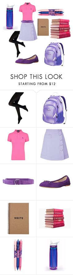 """Twilight Sparkle School Outfit"" by rfacklam ❤ liked on Polyvore featuring High Sierra, Polo Ralph Lauren, Carven, Tonello, Sam Edelman, Brika, Vera Bradley and CamelBak"