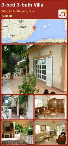 3-bed 3-bath Villa in Villa, Albir, Alicante, Spain ►€490,000 #PropertyForSaleInSpain