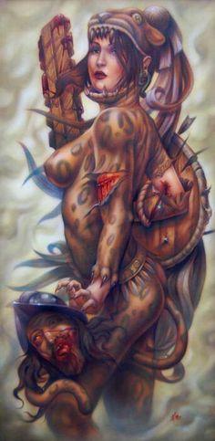 Aztec Warrior .
