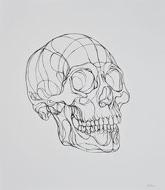 Intricate Paper Cut Art by Max Gartner Line Drawing, Drawing Sketches, Art Drawings, Skeleton Art, Skull Tattoos, Art Tattoos, Anatomy Art, Skull Art, Oeuvre D'art