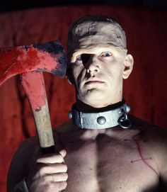 Horror of Frankenstein (1970) publicity still of David Prowse as Frankenstein's creation.