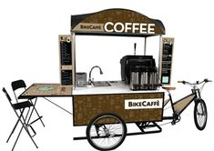 one of the most simple portable cafe ideas ive ever seen! Bike Cafe