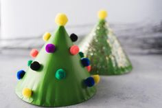 The kids will love this Miniature Christmas Tree DIY Deocration to keep them busy during the Christmas Season. Made with simple supplies the whole family will have so much fun painting and decorating these DIY paper plate Christmas tree decorations. Miniature Christmas Trees, Christmas Crafts For Kids, Simple Christmas, Christmas Tree Decorations, Holiday Crafts, Christmas Diy, Merry Christmas, Recycled Crafts Kids, Kids Crafts