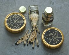 candles, and awesome matchstick bottles | Skeem Design