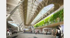 Grimshaw -  Frankfurt Airport's Terminal 1. Grimshaw's defining concept for the masterplan is to bring light, greenery and fresh air into the heart of the airport.
