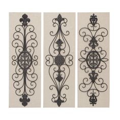 Benzara Assorted Wood Metal Decor (Set Of 3) (Assorted Wood Metal Decor