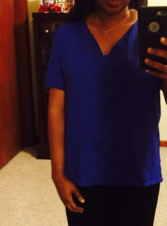 Stitch Fix September 2015 - Collective Concepts Phelan Blouse - Returned because it was to big.