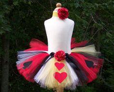 DIY TUTU KIT Queen of Hearts Alice in por baileysblossoms en Etsy