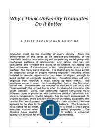 Why I Think University Graduates Do It Better