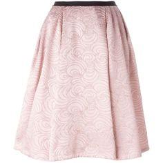 Antonio Marras Flared Brocade Skirt ($1,007) ❤ liked on Polyvore featuring skirts, flared skirt, flare skirt, antonio marras, flared hem skirt and pink skirt