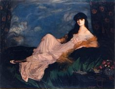 Ignacio Zuloaga - Portrait of Countess Mathieu de Noailles, 1919