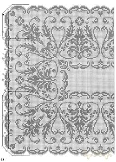 Xmas Cross Stitch, Cross Stitch Borders, Cross Stitch Designs, Cross Stitching, Cross Stitch Embroidery, Counted Cross Stitch Patterns, Crochet Curtains, Crochet Tablecloth, Crochet Doilies