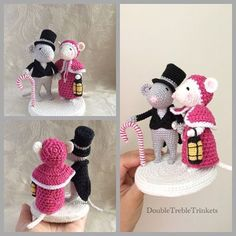 Often my kids are coming up with ideas what they want me to crochet for them. Crochet Dolls Free Patterns, Christmas Crochet Patterns, Christmas Knitting, Crochet Designs, Knitting Patterns, Crochet Mouse, Crochet Baby, Victorian Christmas, Christmas Crafts