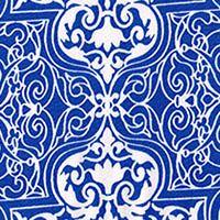 Alhambra Blues Cotton Stretch  Blue/White  GorgeousFabrics.com