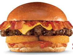 Carl's Jr., Hardee's new burger piles on the bacon