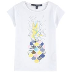 Modal and cotton jersey Super stretch Pleasant to wear Crew neck Short sleeves Fancy print on the front Fancy sequins - £ 33 Kids Patterns, Girls Tees, Surf Girls, Summer Kids, Kids Wear, Couture, Print Design, Graphic Tees, Kids Fashion