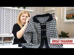 Gilet Crochet, Crochet Quilt, Tunisian Crochet, Knitting Videos, Crochet Videos, Baby Knitting Patterns, Knitting Stitches, Junior Outfits, Knit Jacket