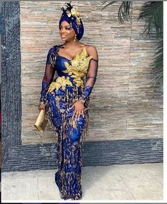 Most recent Aso Ebi Styles for Ladies. Howdy Ladies, you are set to get the new accumulation of aso ebi styles we have for you. African Print Fashion, Africa Fashion, African Fashion Dresses, African Prints, Nigerian Fashion, Nigerian Dress, African Outfits, Latest Lace Styles, Latest Aso Ebi Styles
