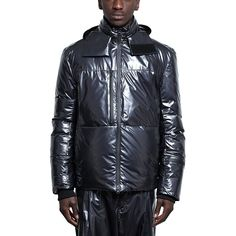 Nylon down jacket from the F/W2016-17 Y-3 by Yohji Yamamoto collection in night metallic