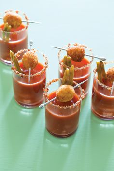 Tiny Bloody Marys | 8 Tiny Comfort Foods You Can Eat In One Bite