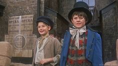 "Classic example of the pure genius in casting these two in ""Oliver!""  Jack Wild, Mark Lester"