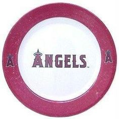 MLB L.A. Angels Dinner Plates (Set Of 4) by Duck House. $18.86. Made in China. Celebrate your team at every meal and snack! These beautifully designed melamine dinner plates are 10.25 inches in size. Made of a hard, thick plastic. Dishwasher safe and not recommended for microwave use. Each set includes 4 plates.