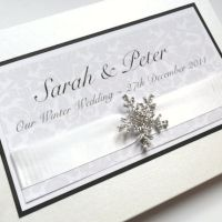 Snowflake, Winter Wedding Guest Book, Ivory Handmade Guestbook ...