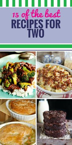 15 Recipes for Two - My Life and Kids - 15 Recipes for Two. If you're not making a huge family meal or holiday feast (and don't want to - Crockpot Recipes For Two, Gourmet Recipes, Snack Recipes, Cooking Recipes, Budget Recipes, Sandwich Recipes, Drink Recipes, Easy Recipes, Healthy Chicken Dinner