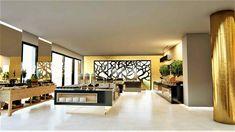 Modern-Hotel-Interior-Design Μπουφές Ξενοδοχείου | Τρισδιαστάτος σχεδιασμός αίθουσας πρωινού σε Ξενοδοχείο στην Μυτιλήνη από την γραμμική α | Αρχιτέκτονες εσωτερικών χώρων | Διακοσμητές | Διακόσμηση Ξενοδοχείου Divider, Interior Design, Modern, Room, Furniture, Home Decor, Nest Design, Bedroom, Trendy Tree