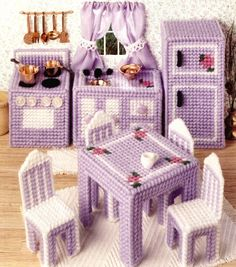 Plastic Canvas Doll Furniture-Mom made me stuff like this when I was a kid! - CG