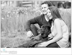 Couple enjoys time with their best friend - dog session