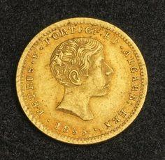 Portugal 1000 Reis Gold Coin