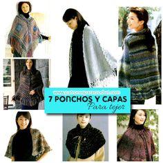 ponchos y capas de revista asiatica para tejer