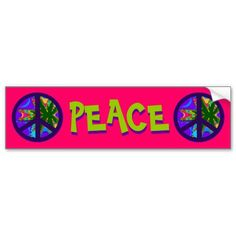 Hemp Peace Sign Bumper Sticker