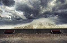 Fala przy bulwarze nadmorskim  #Gdynia, #Poland (taken by Elwira Kruszelnicka)