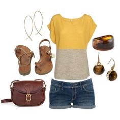 really cute two tone colorblock knit sweater top in yellow