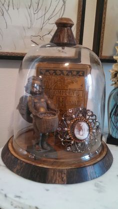Antique French Treasures Glass Bell Jar, The Bell Jar, Bell Jars, Glass Dome Display, Glass Domes, Vintage Display, Vintage Decor, Cloche Decor, Jar Fillers