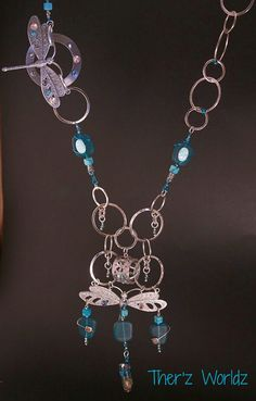 Mothers Day gift Statement necklace Aqua necklace by TherzWorldz