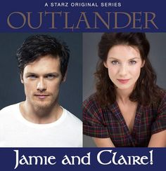 They've been chosen! Jamie & Claire will be played by Sam Heughan & Caitriona Balfe in Starz OUTLANDER based on the novel by Diana Gabaldon.