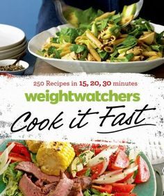 Weight Watchers Cook It Fast Cookbook Giveaway Really hungry? In a rush? Weight Watchers Cook It Fast has 250 delicious, healthful, quick and easy recipes! Healthy Cook Books, Healthy Menu, Healthy Recipes, Easy Recipes, Healthy Life, Cookbook Recipes, Wine Recipes, Healthy Vegetables, Veggies