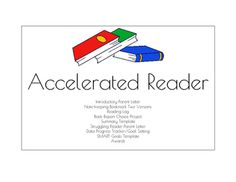 Reading Counts Pack Grade 1-6 Parent Letter, Bookmark